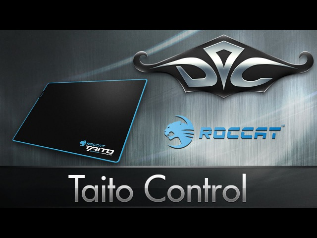 [4K] Roccat Taito Control Mid-Size. Голубая строчка.