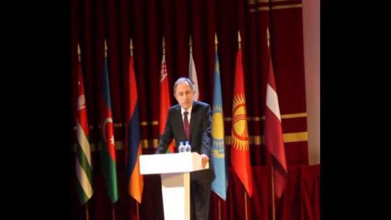 Выступление А.А.Чачии на Международном Форуме Победителей «Великая Победа, добытая единством»