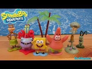 SpongeBob SquarePants action figure SpongeBob Patrick Squidward Mr Krabs Plankton Sandy Toys nick