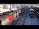 Мощь Электровоз 2ЭС10 124 с бустерной секцией и поездом 9000 тонн