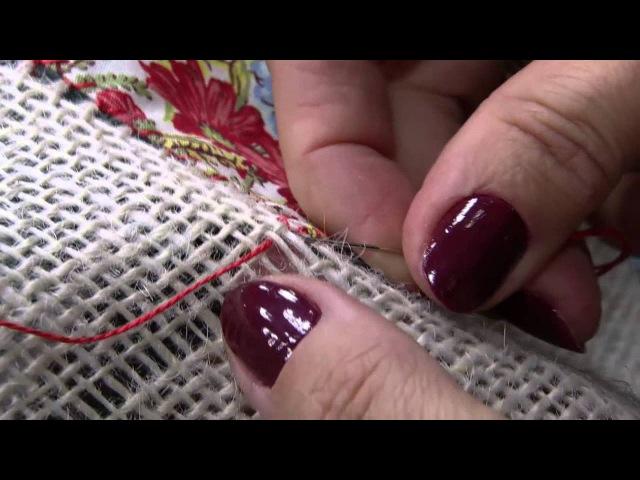 Toalha de Retalhos na Juta por Claudia Niero - 30/07/2014 - Mulher.com - Parte 2/2