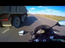 Yamaha R1 2012 crazy moto speed run on highway