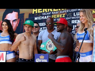 Mauricio Herrera vs. Hank Lundy Full Video- Complete weigh in + Face off- backstage footage