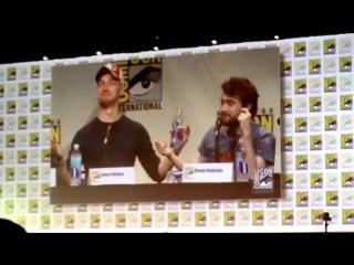 Victor Frankenstein James McAvoy Daniel Radcliffe Wrestle SDCC Hall H San Diego Comic-Con