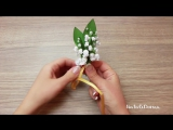 Как сделать ЛАНДЫШИ из Атласных Лент _ DIY_ Lilies of Ribbons ✿ NataliDoma