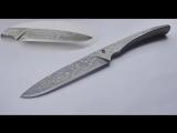 Кованые ножи из тросов.