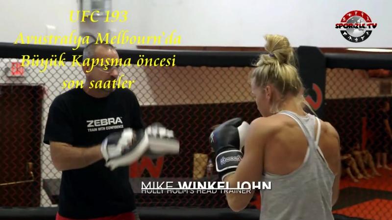 1107.UFC 193-Ronda Rousey-Holy Holm-Avustralya Melbournda Maç öncesi yaşam