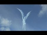 Крым. Севастополь. Пилотная группа Русские Витязи нарисовала Ангела в небе. Круто! Жесть!