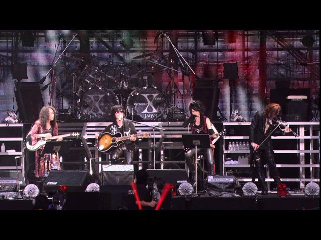 Forever Love(TOSHI.PATA.HEATH.SUGIZO) (HD) - 4/12 2010.08.15 X JAPAN WORLD TOUR Live in YOKOHAMA