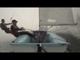 NZL 470 sailing in 25+ knots