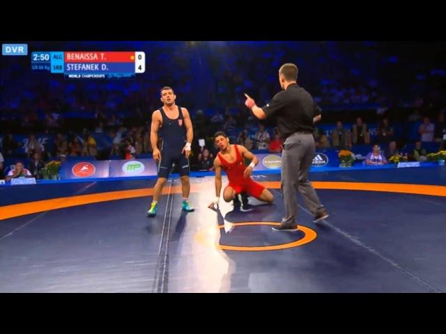 Stefanek Davor Vs BenaissaTarek GR 66kg Bronze Game World Wrestling Championship 2015
