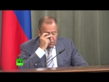 Лавров выругался матом_ Блть, дебилы. на пресс-конференции