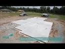 Строительство дома от начала до конца в ускоренной съёмке