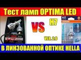 Тест светодиодных ламп OPTIMA в линзованной оптике HELLA