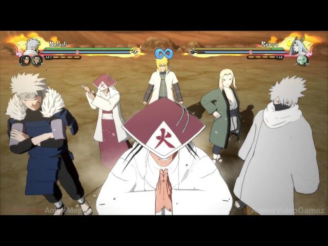 Naruto Shippuden Ultimate Ninja Storm 4: DLC1 - All NEW Characters Team Ultimate Jutsus (60FPS)