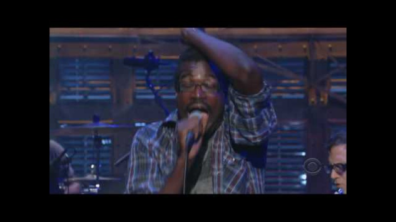 TV On The Radio - Wolf Like Me ( Live on Letterman ) HD in sync