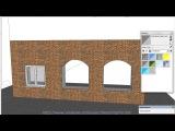 A004 SketchUp рисуем окно