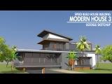 Google Sketchup - Speed Build - Modern house 3