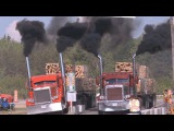 Бешеный форсаж на грузовиках !!!