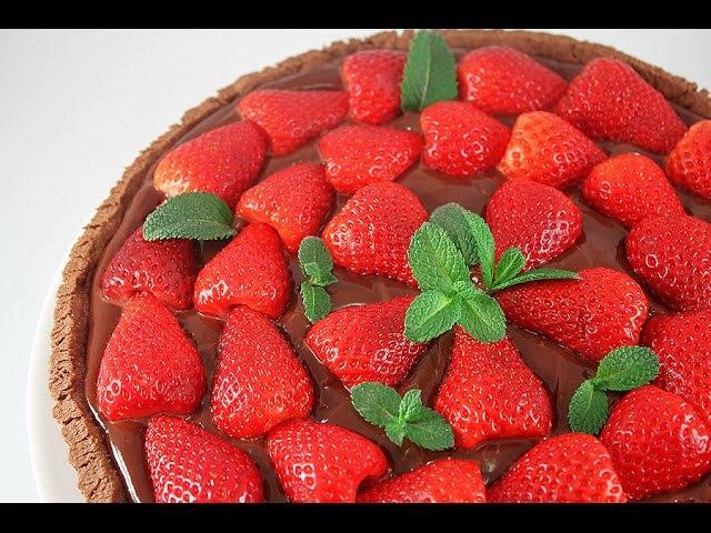 Шоколадный Пирог с Клубникой Chocolate tart with strawberries