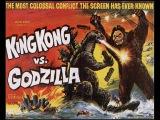 Кинг Конг и Годзилла . На экране в японской ленте 1962 года.