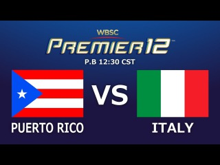 Game 4 Group A Puerto Rico vs Italy
