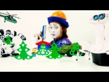 Toy robots for kids &amp funny clown. Kids' video.