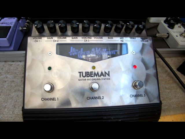 Hughes and Kettner, Tubeman 2 preamp demo, Msm workshop