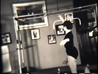 Anna Woolley Shaffer doing Pilates at Joseph Pilates studio, NYC 1953