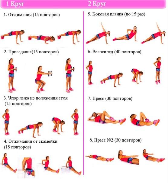 Упражнениями для похудения в домашних условиях фото