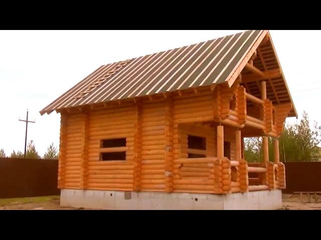 Деревянная Усадьба Баня Крым из оцилиндрованного бревна Сургут