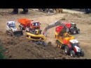 RC Trucks Construction Site 3 3 Excavator Baustelle Bagger LKW Raupe ♦ Modellbaumesse Wels 2016
