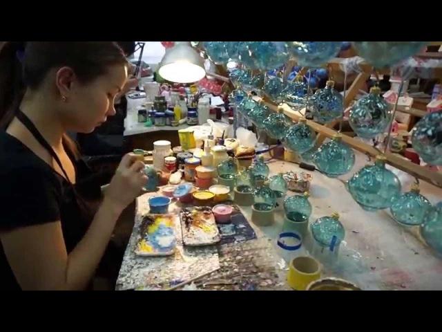 Фабрика стеклянных елочных украшений АРИЕЛЬ артель Детская игрушка г Горький