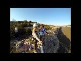 Оля Змеиная балка Rope Jumping with Skyline X-Team in Crimea