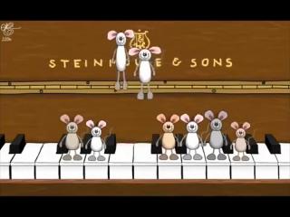 С Днем Рождения! Прикольные мышки играют на пианино Музыкальное поздравление Happy Birthday