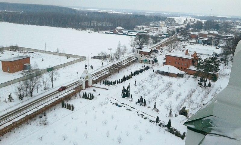 Николо-Берлюковский монастырь. Вид с колокольни