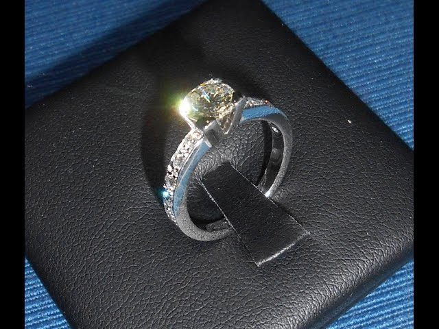 Handmade gold four prong Solitaire Engagement Ring