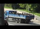 Батальон Восток едет по мосту на аэропорт. 26.05, Донецк, 15-16 часов
