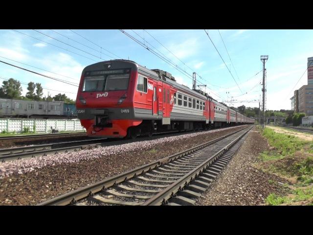 Электропоезд ЭД4М-0469 станция Фили