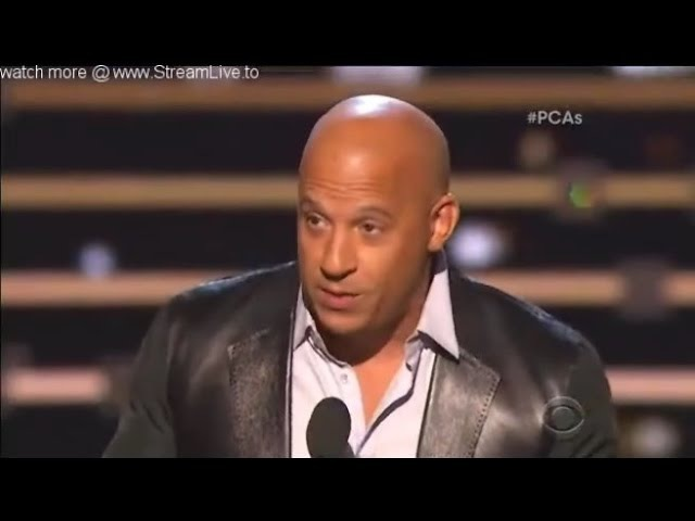 Vin Diesel emotional speech for Farious 7 - Favorite Movie at People's Choice Awards 2016
