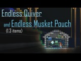 Terraria 1.3 Items Endless Quiver and Endless Musket Pouch