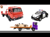 Полицейская машина Полис и Эвакуатор Эвик учат цвета, типы кузовов и смотрят мультик раскраску
