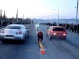 ВАЗ 2108 Турбо 4WD vs Nissan Skyline GT R 3 5 Для тех мудаков которые говорят что тазы не валят!!!