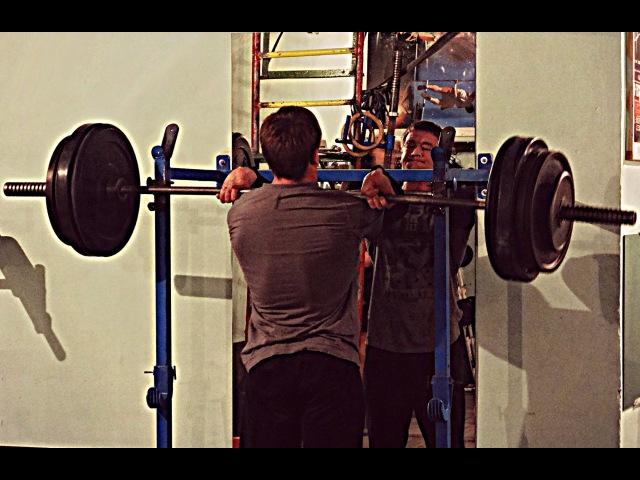 Front squat 308 lb`140 kg/Фронтальный присед 140 кг