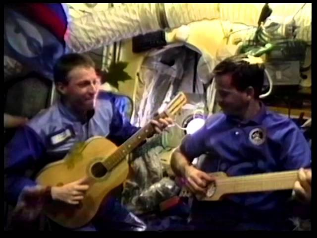 A Blast from the Past Chris Hadfield plays guitar on Space Station Mir