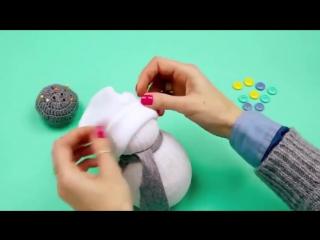 Как сделать снеговика Снеговик своими руками. Милые новогодние снеговики )