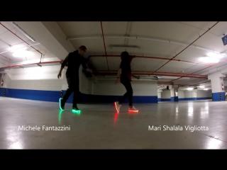 SHOES LED SHUFFLE DANCE SINCRO