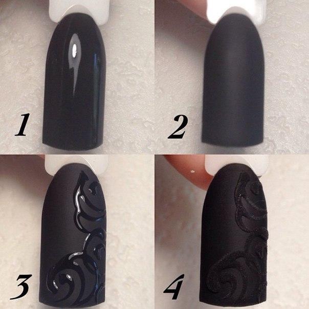 Дизайн ногтей гель лаком матовый
