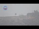 Сирия. Боевик произвел выстрел из ПТУРа по вертолету на земле 24.11.2015.