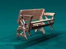 Стол - скамейка складной раскладной трансформер для дачи и сада